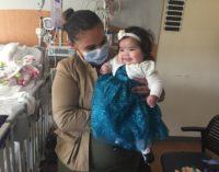 Bebé latina regresa a su hogar luego de recibir un trasplante de corazón