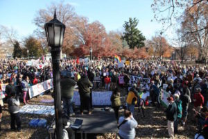 El encuentro pacífico se realizó en la Plaza Moore Square en Raleigh/Melody Moezzi
