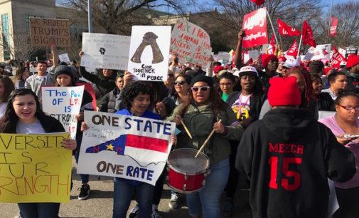 Latinos marcharon en Raleigh contra las deportaciones