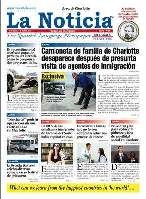 La noticia charlotte edici n 989 la noticia for Una noticia de espectaculos