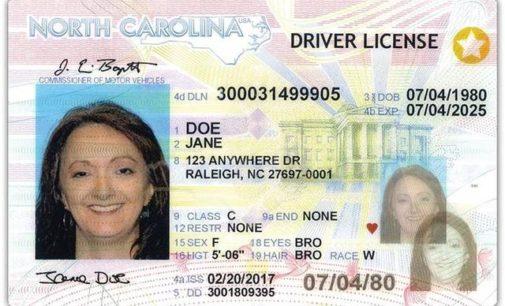 DMV comienza a emitir licencias con nuevas características de seguridad en Carolina del Norte