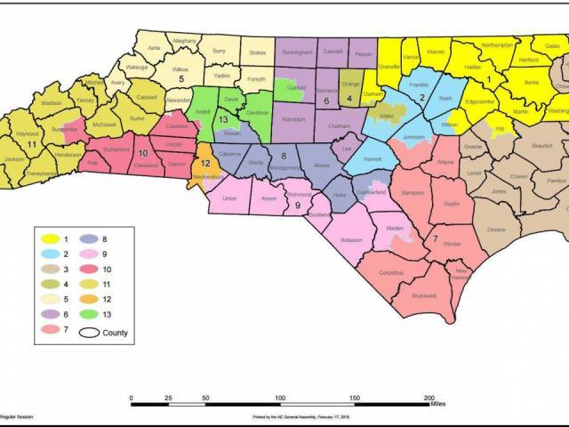 Carolina Del Norte Mapa.Corte Suprema Bloquea Orden De Rehacer Mapa Congresional De