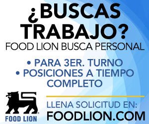 Busca trabajo en Food Lion