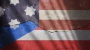 Bandera de Puerto Rico y Estados Unidos