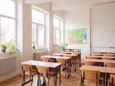 Foto de un salón de clase.
