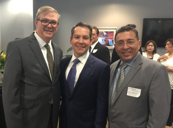 Daniel Terry, Stefan Latorre y Enrique Coello