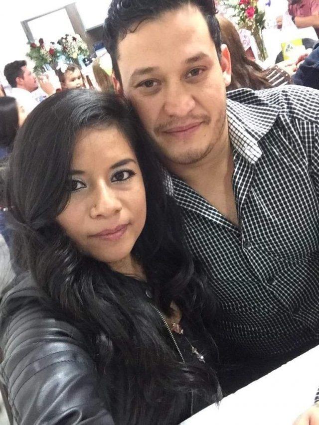 Jocsan Cornejo junto a su prometida, María Faviola Huerta.