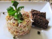 Tartare de alcachofa y cangrejo