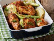 Pollo en salsa de hinojo (fennel) y ajo
