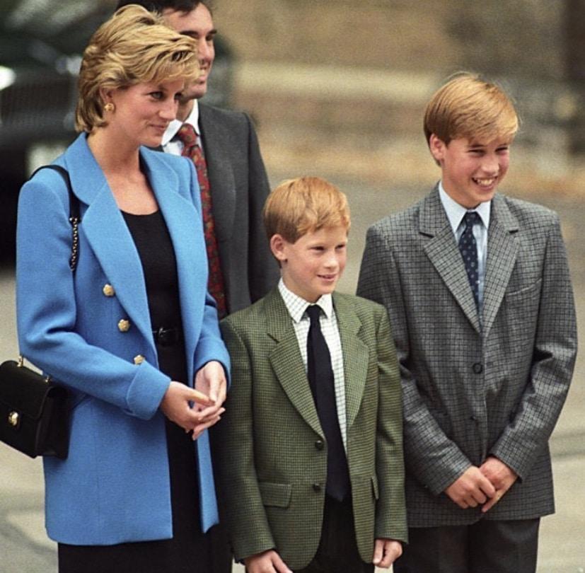 Lady Diana y sus hijos