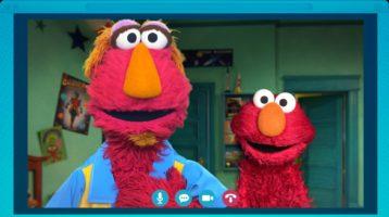 Elmo enseña a los niños a mantenerse conectados